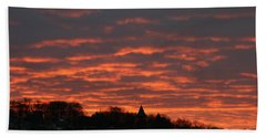 Hand Towel featuring the photograph Under A Blood Red Sky by Neal Eslinger