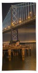 Under Bay Bridge San Francisco California Bath Towel by James Hammond