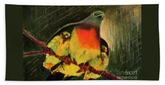 Under His Wings Hand Towel by Hazel Holland