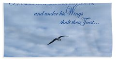 Under His Wings Bath Towel