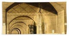 Under The Bridge Bath Towel by Joseph Skompski