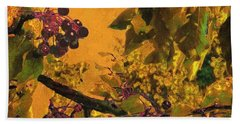 Under The Chokecherry Tree Hand Towel by Janette Boyd
