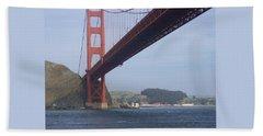 Under The Golden Gate - San Francisco Golden Gate Bridge 2006 - Scenic Photography - Ai P. Nilson Bath Towel