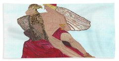 Hand Towel featuring the painting Under The Wings Of Love by Tracey Williams