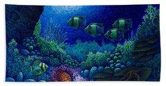 Undersea Creatures Iv Bath Towel