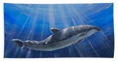 Underwater Hand Towel by Bozena Zajaczkowska
