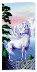 Unicorn The Land That Time Forgot Hand Towel by Garry Walton