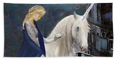 Unicorn Varations Hand Towel by Jane Schnetlage