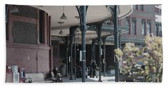 Bath Towel featuring the photograph Union Street Station by Patricia Babbitt
