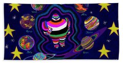 United Planets Of Eurotrazz Hand Towel by Robert SORENSEN