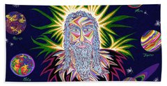 United Planets Of Jesus Christ Bath Towel