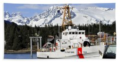 United States Coast Guard Cutter Liberty Bath Towel by Cathy Mahnke