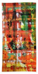Hand Towel featuring the painting Three Parts by Tamal Sen Sharma