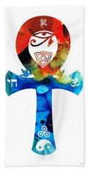 Unity 16 - Spiritual Artwork Bath Towel