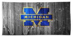 University Of Michigan Bath Towel by Dan Sproul