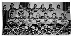 University Of Michigan Hockey Team 1947 Hand Towel by Mountain Dreams