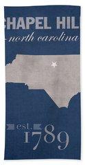 University Of North Carolina Tar Heels Chapel Hill Unc College Town State Map Poster Series No 076 Bath Towel
