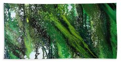 Hand Towel featuring the painting Forest Of Duars by Tamal Sen Sharma