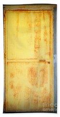 Hand Towel featuring the photograph Unused Door by Clare Bevan