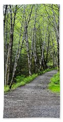Bath Towel featuring the photograph Up The Trail by Cathy Mahnke