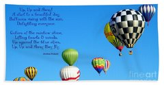 Up Up And Away Poetry Photography Hand Towel