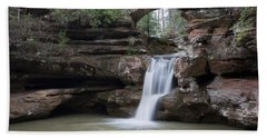 Bath Towel featuring the photograph Upper Falls At Old Mans Cave II by Dale Kincaid