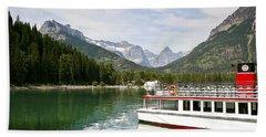 Upper Waterton Lakes Hand Towel by Teresa Zieba