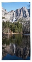 Upper Yosemite Fall Bath Towel