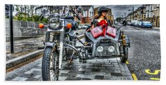Ural Wolf 750 And Sidecar Hand Towel