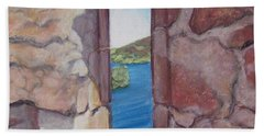 Archers' Window Urquhart Ruins Loch Ness Hand Towel