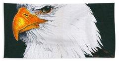 Us Bald Eagle Hand Towel