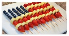 American Flag Fruit Kabobs Bath Towel
