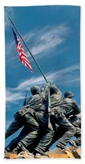 Us Marine Corps War Memorial Hand Towel