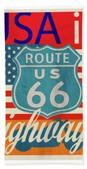 Usa Is Highways Bath Towel
