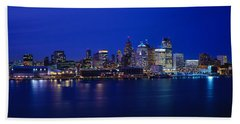 Usa, Michigan, Detroit, Night Bath Towel