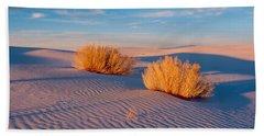 Usa, New Mexico, White Sands, Sunset Bath Towel