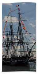 Bath Towel featuring the photograph Uss Constitution by Mike Ste Marie