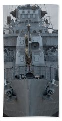 Uss Kidd Dd 661 Front View Hand Towel