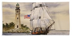 Uss Niagara Hand Towel by James Williamson