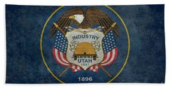 Utah State Flag Vintage Version Hand Towel