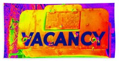 Vacancy Hotel Sign Hand Towel