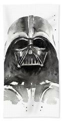 Darth Vader Watercolor Hand Towel