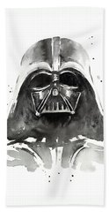 Darth Vader Watercolor Bath Towel