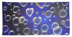 Valentine Bubbles Bath Towel