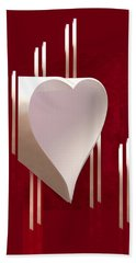 Valentine Paper Heart Bath Towel by Gary Eason