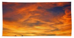 Hand Towel featuring the photograph Valentine Sunset by Tammy Espino