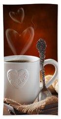 Valentine's Day Coffee Hand Towel