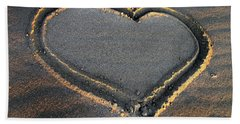 Valentine's Day - Sand Heart Bath Towel