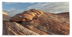 Valley Of Fire Morning Bath Towel