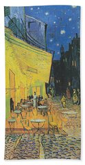 Van Gogh Cafe Terrace At Night 1888 Hand Towel